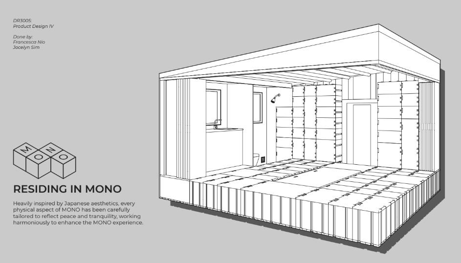 The MONO Home is built for the individual who seeks monotasking as a lifestyle, and loves the fellow monotasking community. Monotasking is the superior way of working; instead of trying to do multiple things at once and not being able to accomplish your goals, the MONO home is made to encourage the user to focus on one activity at one time. The MONO home also aims to be the option for the more environmentally conscious individual at the same time, with its efforts to reduce carbon footprint in various aspects.